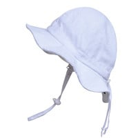 Baby & Toddler Adjustable Sun Hat - Classic White