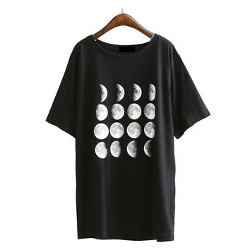 Phases Of Moon - Womne's T-shirt
