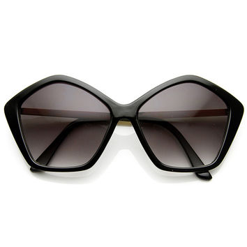 BLANK STARE SUNGLASSES - BLACK