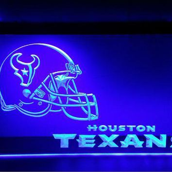 b-143 Houston Texans Helmet 2 size beer bar pub club 3d signs LED Neon Light Sign home decor crafts