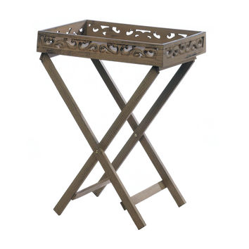 Wooden Estate Tray Table