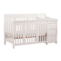 Stork Craft Portofino 4-in-1 Fixed Side Convertible Crib Changer - White