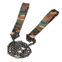 MUMIAN Stainless Steel Camping Camouflage Survival Chain Saw Hand Chainsaw Emergency Kit Pocket Gear Tool with Carry Pouch