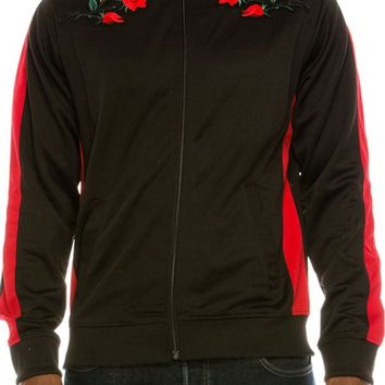 Rose Patch Track Jacket