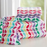 Petal Pop Flannel Sheet Set