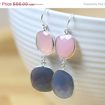 ON SALE Bridsmaids earrings,Amethyst Earrings,Rose quartz Earrings,Gemstone Earrings,Agate Earrings,February,Mom jewelry,Silver earrings