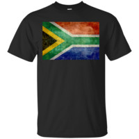 Vintage retro South Africa's National flag