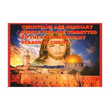 The Extraordinary Person Of Christ. Canvas Print
