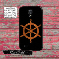 Wooden Boat Steering Wheel Ship Hull Cool Wood Tumblr Inspired Custom Galaxy S5 and S4 and S3 Case and Galaxy Note 2 and Note 3 Case
