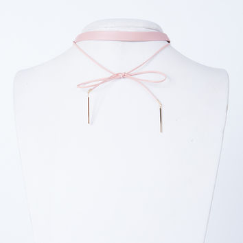 Leather Bow Choker
