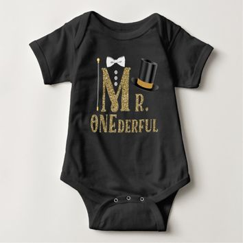 Boys Mr ONEderful 1st Birthday Shirts