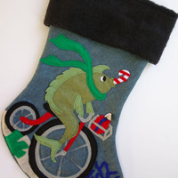 Like a Fish Needs a Bicycle Christmas Stocking