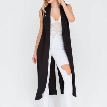 Work 'N Slay Longline Sleeveless Jacket