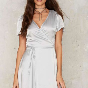 Glamorous Have You Ever Mini Dress - Silver