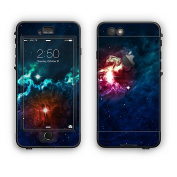 The Glowing Colorful Space Scene Apple iPhone 6 Plus LifeProof Nuud Case Skin Set