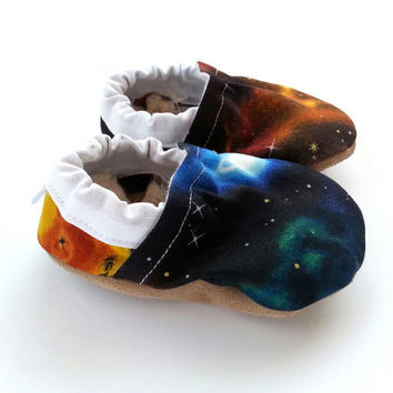 galaxy baby shoes outer space baby galaxy booties star shoes soft sole shoes for baby galaxy clothing vegan baby shoes space shoes for baby