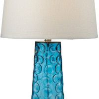 0-015483>1-Light 3-Way LED Table Lamp Blue