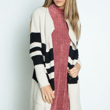 Chaser Open Front Duster Cardigan