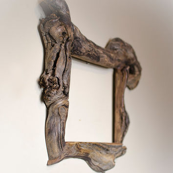 8x10 Driftwood Picture Frame with Glass and Backing
