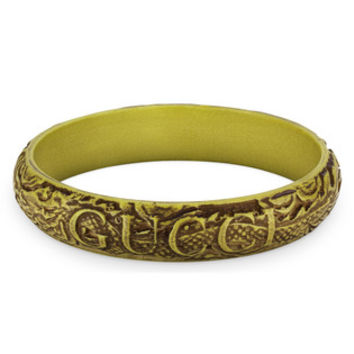Gucci - Gucci bracelet with engraved leaves