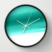 Mint Ombre Wall Clock by SimpleChic | Society6