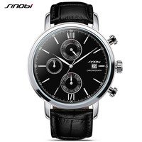 SINOBI Sports Multifunction Men's Wrist Watches Leather