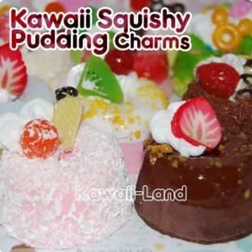 Kawaii Squishy Pudding Special Phone Charm