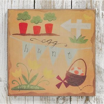 Egg Hunt Box Sign - *FREE SHIPPING*