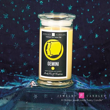 Gemini Zodiac Sign Jewelry Candle (May 21 - June 20)