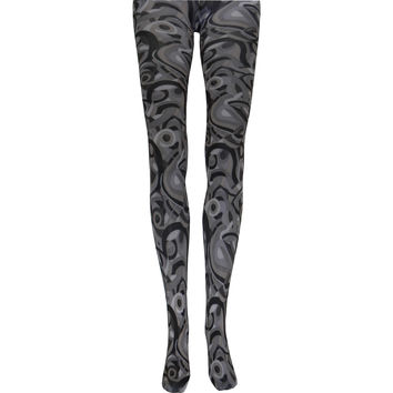 Metro Retro Tights in Black and Gray