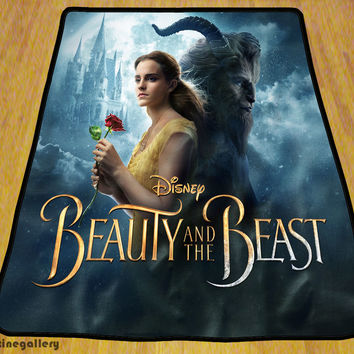 """Beauty And The Beast Cool Soft High Quality Blanket 58"""" x 80"""" Exclusive Design"""