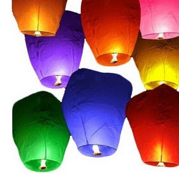 Sky Lanterns Chinese Paper Sky Candle Fire Balloons for Wedding Party = 1946725700