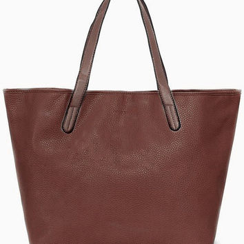 Chocolate Stain-Resistant Shoulder Bag
