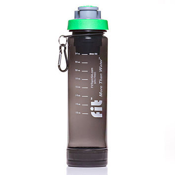 24oz Gray FIT Top Filtering Sports Water Bottle