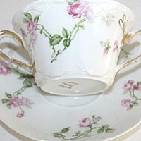 Antique French Haviland Limoges Schleiger 31A Pink