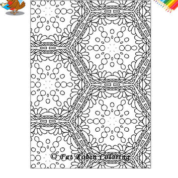 Coloring Sheet - Adult Coloring, Digital Download, Art Therapy, Tranquility 5 -Instant Download (PDF and JPG)