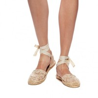Sandal - Chantilly Lace Blush Espadrilles for Women from Soludos - Soludos Espadrilles
