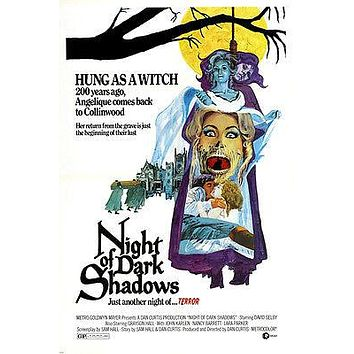 NIGHT OF DARK SHADOWS movie poster WITCH HANGING 200-YEAR-OLD TERROR 24X36