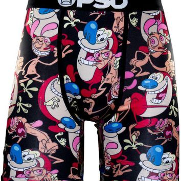 ONETOW PSD Ren & Stimpy Boxer Briefs In Black