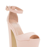 Way Up High Faux Nubuck Heels