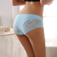 Women Lace Briefs Non-trace Low Waist Panties Lingerie Thongs Underwear Knickers