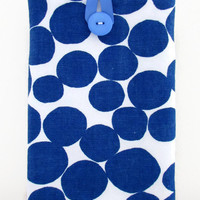Spotty Kindle case, 7 inch tablet cover sleeve blue spotty fabric for nexus 7 kindle touch paperwhite  girly gift for teen uk seller