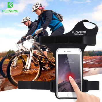 FLOVEME Case For iPhone 7 6 6S Plus 5 5S Thumb Buckle Cycling Riding Running Sport Arm Band Cover For Samsung S8 S7 S6 Edge Plus