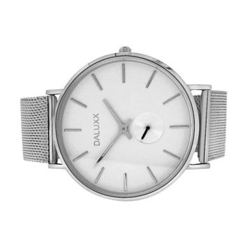 Subdial Steel Mesh Watch White Dial