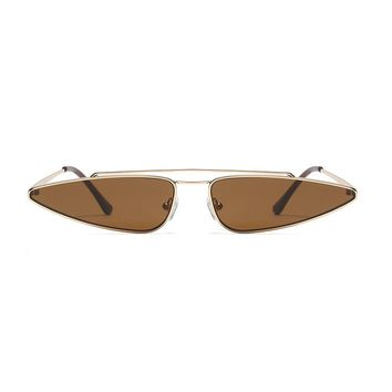 Slim Shady Retro Sunglasses | Brown