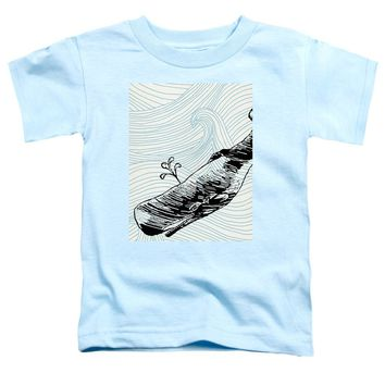 Whale On Wave Paper - Toddler T-Shirt