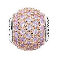 Women's PANDORA 'Essence - Love' Pave Bead Charm