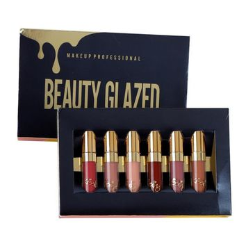BEAUTY GLAZED 6pcs/Set Liquid Long Lasting Lip Makeup