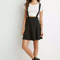 Spaghetti Strap Zippered Skirt Overall