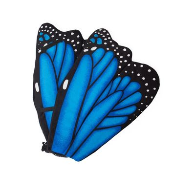 Wildlife Tree Plush Blue Morpho Butterfly Wings for Kids Cosplay, Pretend Play or Zoo Animal Party Costumes